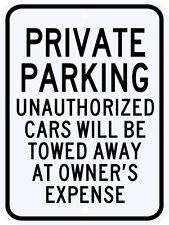 3M Reflective Private Parking Street Sign Municipal Grade Large Size 18 x 24