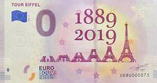 BILLET 0  EURO  PARIS TOUR EIFFEL 1889-2019 FRANCE 2018-4  NUMERO 0073
