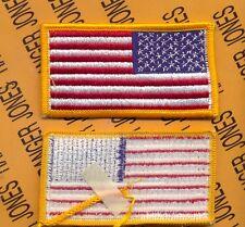 "United States of America USA Color flag COMBAT Side uniform patch 3 1/4"" m/e"