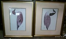 """7GG30 FRAMED DUCK PRINTS, 22"""" X 18"""" +/- OVERALL, SIGNED BY SQUADRA?, GOOD COND"""