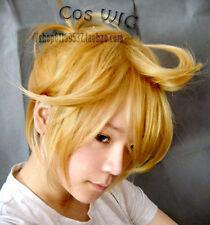 Vocaloid Kagamine Len Rin Blonde Cosplay Wig Heat Resistent Cos Hair Wigs E147