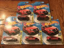 2018 Hot Wheels '16 HONDA CIVIC TYPE R Lot of 5 FIVE Cars HW Speed Graphics