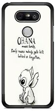 Disney Cartoon Ohana Lilo and Stitch Phone Case Cover For iPhone Samsung LG etc