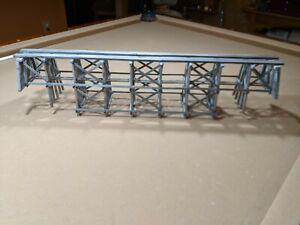 "LIONEL O RAILROAD VINTAGE  WOOD BRIDGE  SPAN 12/"" USA MADE 4/"" WIDE ALL TYPE TRACK"