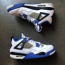 Men's Nike Air Jordan 4 IV Retro Motorsport White Varsity Blue Sz 10 308497-117