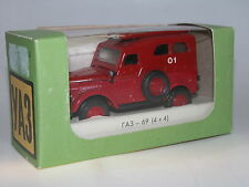 GAZ 69 ( 4x4 ), Feuerwehr, Kleinserie Werkstatt Baturin, 1953, rot, 1/43