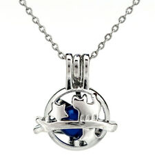 K804 Silver Color Cat Star  Beads Cage Locket Pendant Essential Oil Diffuser