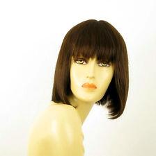 Perruque femme 100% cheveux naturel châtain ref JACKIE 6