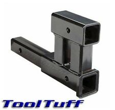 "4000 LB Dual 2"" Trailer Hitch RECEIVER Rise-Drop Adapter Extender EXTENSION Tow"