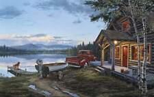 """Darrell Bush """" Cabin Fever """" CANVAS # 16/195  ( Lake)"""
