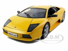 LAMBORGHINI MURCIELAGO YELLOW 1/18 DIECAST MODEL CAR BY WELLY 12517