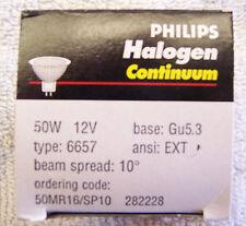 philips halogen continuum light bulb 50W 12V. Gu 5.3 50Mr16/Sp10 282228 White Nb