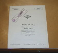KLM AIRLINE PROSPECTUS 10 JUL1 1959 f. 50.000.000 20 JARIGE OBLIGATIES REPORT