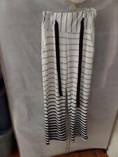 Women Boho High Waist Striped Palazzo Pants Wide Leg Casual size Small