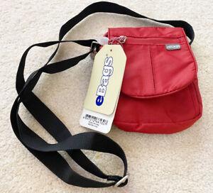 eBags Terrace Mini Bag Red Burgundy Nylon Messenger Travel Organizer Crossbody