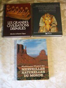3 livres édition READER'S DIGEST voir  livres en photos  illustrations