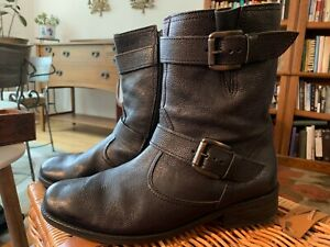 Gabor Womens 31811-87 Leather Lace-Up Boots Black