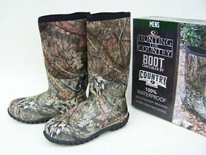 NEW Mossy Oak Country Men's12 Neoprene Waterproof 400g Insulated Hunting Boots