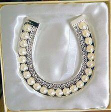 Wedding Bride Keepsake  Pearl and Diamante Horseshoe Present