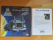 DEF LEPPARD signed ON THROUGH THE NIGHT B Record PSA Letter ELLIOT SAVAGE ALLEN