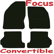 Tailored Deluxe Quality Car Mats Ford Focus 2007 Onwards ** Black ** Convertible