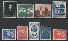 Norway - 1956/67, 9 x Issues - Mnh