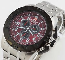 Swiss Military Hanowa acero inoxidable chronograph Chrono XL 50 mm reloj nuevo defender 4