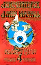 Jimi Hendrix Poster John Mayall King Fillmore Bg105 Rick Griffin Fifth Printing