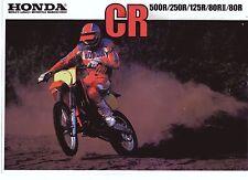 1985 HONDA CR500RF CR250 CR125 CR80 6 Page Motorcycle Brochure NCS
