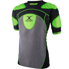 Clearance Line New Gilbert Rugby Atomic Zenon Body Armour Black/ Green 2XL