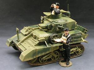 KING & COUNTRY FIELDS OF BATTLE FOB019 WW2 BRITISH VICKERS MK IV TANK SET MIB