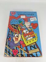 Tiny Toon Adventures Looney Tunes  box of vintage Valentines cards Torn Seal