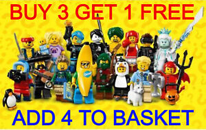 LEGO 71013 SERIES 16 MINIFIGURES (PICK YOUR MINIFIGURE) BUY 3 GET 1 FREE!!