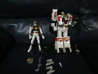 Vintage Mighty Morphin Power Rangers White Tigerzord Deluxe Figure Accessories
