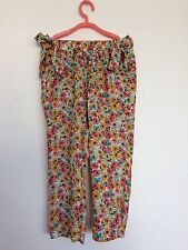 Fab Zara Girls Floral printed soft viscose pants trousers age - 5 - 6 years -new