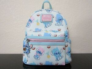 Loungefly Disney Lilo & Stitch Coconut Mini Backpack New With Tags