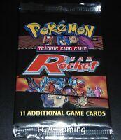 SEALED Team Rocket Booster Pack (Split Art) WOTC Pokemon Cards - LIGHT