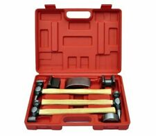 7-Piece Auto Body Hammer And Dolly Dent Repair Set Tool Kit