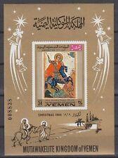 Yemen Kgr 1969 ** Bl. 183 Christmas Weihnachten Ikonen Icons St. Georg Dragon