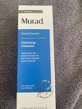 Murad Acne Control Clarifying Cleanser 6.75 fl oz New In Box