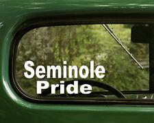 2 SEMINOLE PRIDE DECALs Native American Sticker for Car Laptop Truck Bumper