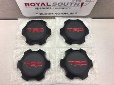 """4Runner TRD PRO 17"""" Black Matte Wheel Center Cap (4) Genuine OEM OE"""