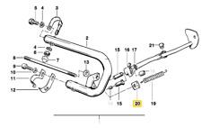 Supporto, staffa protezione cilindri -ORIGINALE- BMW R65 GS, R80 GS, R100 GS >