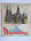 10C19 BUVARD PUBLICITAIRE BISCOTTES MAGDELEINE GRANVILLE CATHEDRALE DE BAYEUX