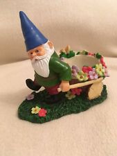 Garden Gnome Pulling Cart Tealight Holder By Yankee Candle