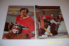 1972 1974 Sports Illustrated MONTREAL Canadians KEN DRYDEN Set of 2 Issues N/Lab