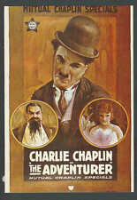 Ca 1980 PPC* Charlie Chaplin in Classic Movie The Adventurer Adv Card See Info