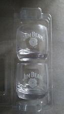 2 Jim Beam Logo Glassware Barware Glasses Cups Mugs Collectable Whiskey Alcohol
