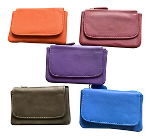Golunski Zen 22 Small Soft Leather Coin Credit Card Purse with Keyring