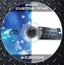 300 Patches Korg AX3000G Multi Effects Processor. Custom Tone Preset